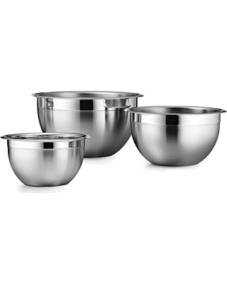 Tramontina Mixing Bowl 18/10 Stainless Steel 3-Pack, 80202/202DS