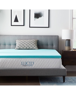 """Full Comfort Collection 2"""" Gel and Aloe Infused Memory Foam Mattress Topper - Lucid"""