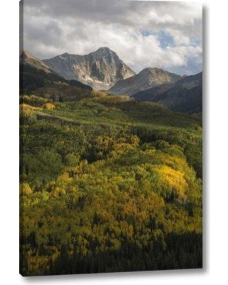 """Millwood Pines 'Use Colorado Sunset on Capitol Peak and Valley' Photographic Print on Wrapped Canvas BF152433 Size: 16"""" H x 11"""" W x 1.5"""" D"""