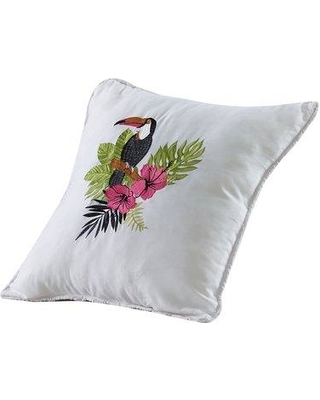 Bay Isle Home Cordell Tucan Palm Throw Pillow W001418015