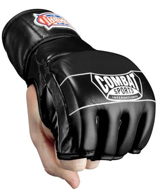 Combat Sports Traditional MMA Fight Gloves XLarge Black