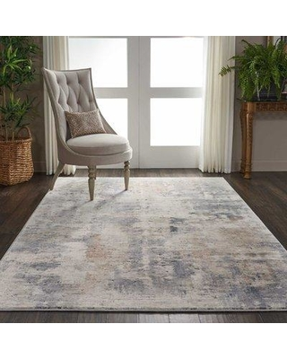 "Williston Forge Comer Abstract Beige/Gray Area Rug BF178578 Rug Size: Rectangle 5'3"" x 7'3"""