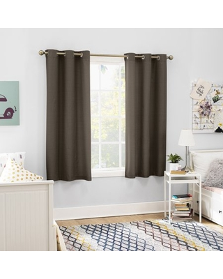 Sun Zero 2-pack Arlo Textured Thermal Insulated Grommet Curtain Panel Pair