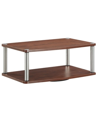 Convenience Concepts Designs2Go 2-Tier TV Stand Swivel in Cherry, Red