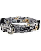 Hand Made Dog Collar by Oh My Pawd Macaroni /& Cheese Collar for Pets Size Large 1 Inch Wide and 17-25 Inches Long