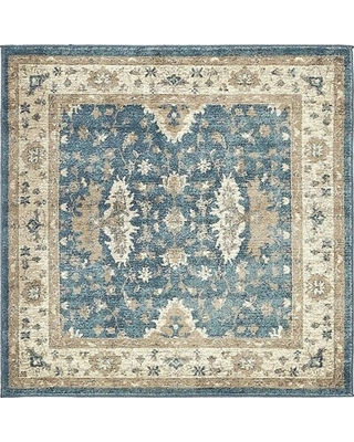Special Prices On Linz Floral Blue Area Rug Rugpal Rug Size Square 4