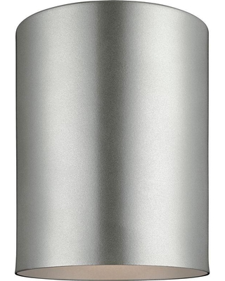 Sea Gull Lighting Outdoor Cylinders 6 625 In Painted Brushed Nickel 1 Light Ceiling