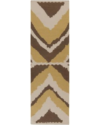 """Beth Lacefield for Surya Alameda Hand woven Ivory/Brown Area Rug AMD1023 Rug Size: Runner 2'6"""" x 8'"""