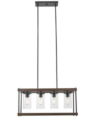 17 Stories Rybicki Satin 4 -Bulb 13.24'' H Outdoor Chandelier X114436123