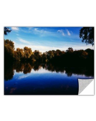 """ArtWall Lakeview by Revolver Ocelot Removable Photographic Print, Paper in Blue, Size 12"""" H x 18"""" W 
