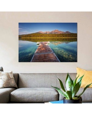"East Urban Home 'Patricia Lake' Photographic Print on Canvas ESUI1624 Size: 12"" H x 18"" W x 0.75"" D"