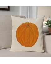 """The Holiday Aisle Lil' Pumpkin Holiday Print Throw Pillow HLDY6347 Size: 20"""" H x 20"""" W, Color: Off White"""