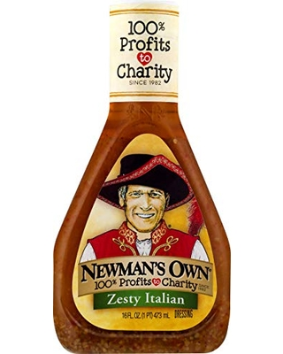 Newman's Own Zesty Italian Salad Dressing, 16-oz. (Pack of 6)