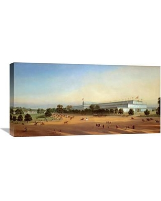 """Global Gallery 'Crystal Palace During the Great Exhibition of 1851' by P Le Bihan Painting Print on Wrapped Canvas GCS-268233-30-142 / GCS-268233-36-142 Size: 17.86"""" H x 36"""" W x 1.5"""" D"""