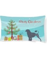 The Holiday Aisle Portuguese Water Dog Indoor/Outdoor Lumbar Pillow THLA3884
