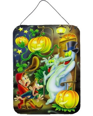 Scary Ghosts and Halloween Trick or Treaters Wall or Door Hanging Prints