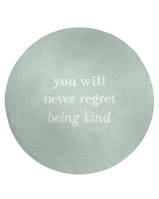Handwritten Be Kind Quote Poly Chenille Rug East Urban Home Rug Size: Round 5'
