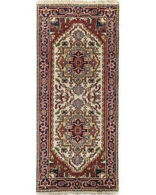 """Clarendale Oriental Hand-Knotted Wool Area Rug World Menagerie Rug Size: Rectangle 2'6"""" x 6'"""