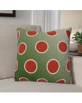 """The Holiday Aisle Holiday Bubbly Throw Pillow HLDY1536 Size: 20"""" H x 20"""" W, Color: Green"""