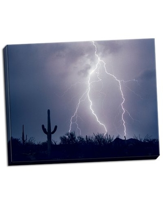 'Electric Desert I' Photographic Print on Wrapped Canvas Union Rustic