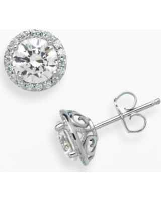 233d86f80 Emotions Sterling Silver Frame Stud Earrings - Made with Swarovski Zirconia,  Women's, White