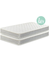 Zinus 6 Inch Spring Twin Mattress 2 pack, Perfect for Bunk Beds / Trundle Beds / Day Beds (Set of 2)