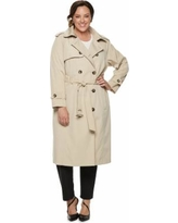 e03ae9997deb4 New Deal Alert! Plus Size Tower by London Fog Belted Trench Coat ...