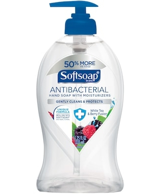Softsoap Antibacterial Hand Soap, White Tea & Berry, 11.25 oz. Pump Bottle | Quill