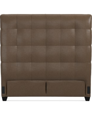 """Gable 60"""" Headboard Only, King, Italian Distressed Leather, Toffee"""