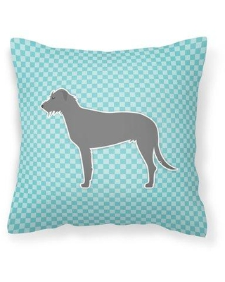 "East Urban Home Irish Wolfhound Indoor/Outdoor Throw Pillow EBHR1063 Size: 14"" H x 14"" W x 3"" D Color: Blue"