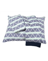 Coral//Navy Large Triangles Tribal//Aztec Muslin 3 pc Toddler Bed Sheet Set Bacati