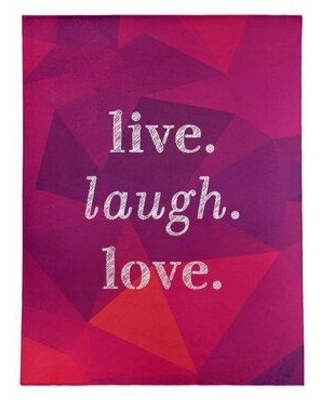 East Urban Home Faux Gemstone Live Laugh Love Quote Poly Chenille Rug FCLS5787 Rug Size: Rectangle 5' x 7'