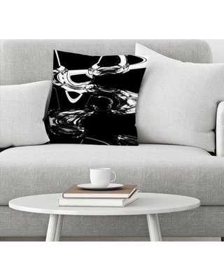 """East Urban Home Ashley Camille Displaced Throw Pillow EBIB9910 Size: 18"""" x 18"""""""