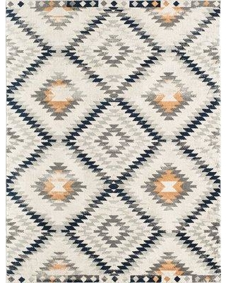 CosmoLiving by Cosmopolitan Geometric Ivory Area Rug Rug Size: Rectangle 5' x 7'