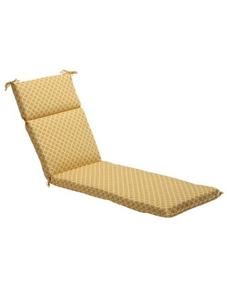 """Pillow Perfect Outdoor/Indoor Hockley Banana Chaise Lounge Cushion, 72.5"""" x 21"""", Yellow"""