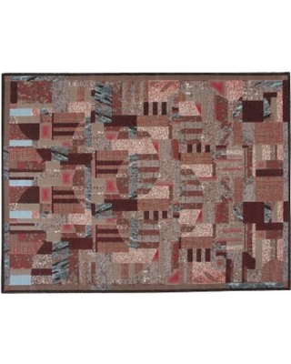 Nourison Modesto Abstract Geometric Rug, Brown, 8X10.5 Ft
