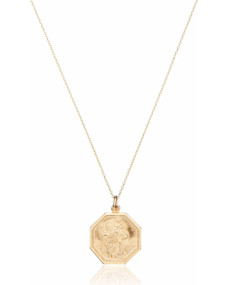 8992924c2958e Here's a Great Price on Lily & Roo - Solid Gold St Christopher ...
