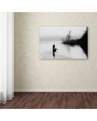 """Trademark Fine Art 'Peace' Graphic Art on Wrapped Canvas 1X01712-C Size: 12"""" H x 19"""" W"""