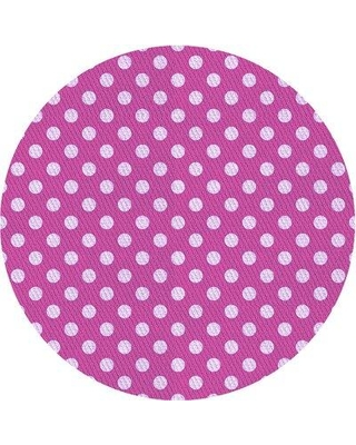 East Urban Home Howes Polka Dots Wool Purple Area Rug X111493223 Rug Size: Round 5'