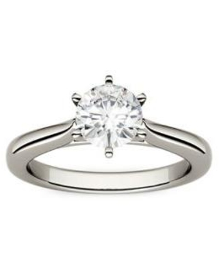 Charles & Colvard White Gold 1 ct. t.w. Lab Created Moissanite Solitaire Ring in 14K White Gold