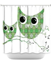 Zoomie Kids Holthaus Ombre Pattern I Single Shower Curtain BI030996 Color: Green