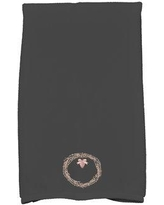 The Holiday Aisle Maselli Natural Wreath Holiday Hand Towel THLY6867 Color: Black