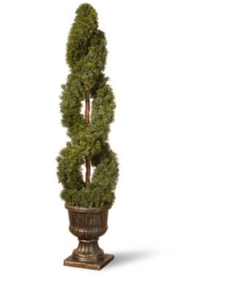 National Tree Company® 54-Inch Artificial Double-Spiral Cedar Topiary Tree in Planter