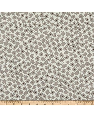 Kaufman Paintbox Flowers Smoke, Quilting Fabric by the Yard