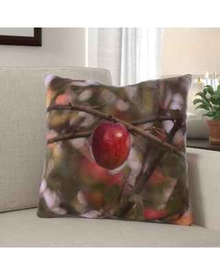 The Holiday Aisle Graddy Apple Indoor/Outdoor Throw Pillow W000016381