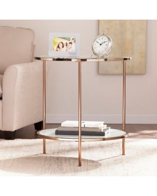 Southern Enterprises Risa End Table in Gold