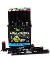 Studio Series Professional Alcohol Markers (Dual-Tip, 24 colors)
