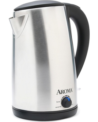 Aroma 1.7L Electric Kettle - Stainless Steel (Silver)