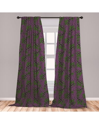"Room Darkening Rod Pocket Curtain Panels East Urban Home Size per Panel: 28"" x 84"""