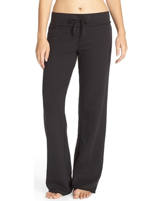 Women's Nordstrom Lingerie Lazy Mornings Lounge Pants, Size Small - Black